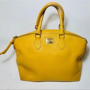Dooney & Bourke Mustard Yellow Gold Leather Tote